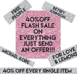 40% OFF EVERY SINGLE ITEM